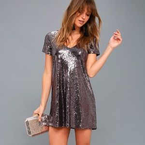 Lulu's Light Up the Night Sequin Shift Dress